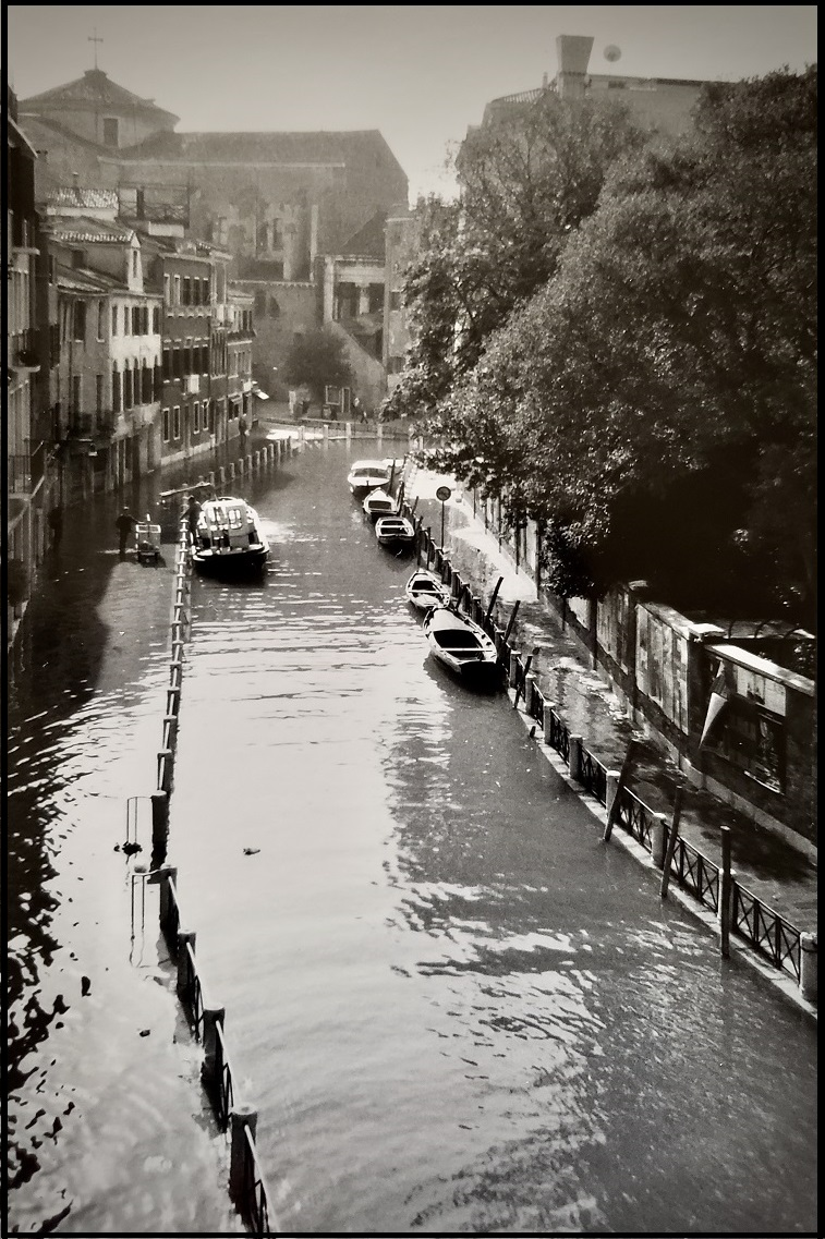 Venice in Moody Black and White